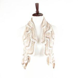 ANTHROPOLOGIE – Crochet Knit Open Front Cardigan